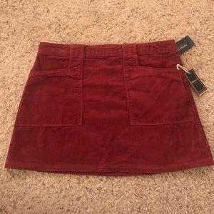 Berry Corduroy Forever 21 Skirt